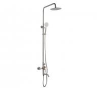 Душевая стойка со смесителем, нержавеющая сталь, хром, поворот. излив, верх. душ Frap F2425 (1/4)