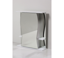 Зеркало шкаф Карина-50 Белый слева